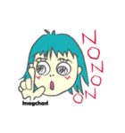 動くよぉ!マグちゃんとマオちんの日常編!(個別スタンプ:01)