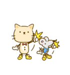 かわいい絵柄のネコとネズミ【文字なし編】(個別スタンプ:2)