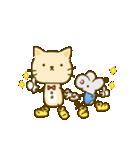 かわいい絵柄のネコとネズミ【文字なし編】(個別スタンプ:3)