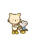 かわいい絵柄のネコとネズミ【文字なし編】(個別スタンプ:6)