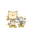 かわいい絵柄のネコとネズミ【文字なし編】(個別スタンプ:7)