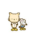 かわいい絵柄のネコとネズミ【文字なし編】(個別スタンプ:9)