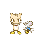 かわいい絵柄のネコとネズミ【文字なし編】(個別スタンプ:13)