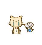 かわいい絵柄のネコとネズミ【文字なし編】(個別スタンプ:14)