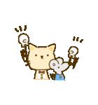 かわいい絵柄のネコとネズミ【文字なし編】(個別スタンプ:16)