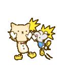 かわいい絵柄のネコとネズミ【文字なし編】(個別スタンプ:17)