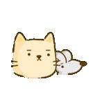 かわいい絵柄のネコとネズミ【文字なし編】(個別スタンプ:19)