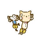 かわいい絵柄のネコとネズミ【文字なし編】(個別スタンプ:34)