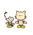 かわいい絵柄のネコとネズミ【文字なし編】(個別スタンプ:35)