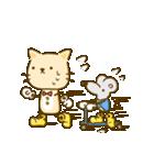 かわいい絵柄のネコとネズミ【文字なし編】(個別スタンプ:37)
