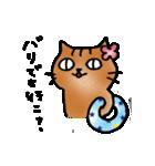 猫のトラタ7 夏(個別スタンプ:27)