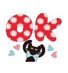 【北欧風♥2】大人かわいい黒ネコ(個別スタンプ:01)