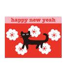 【北欧風♥2】大人かわいい黒ネコ(個別スタンプ:36)