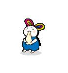 シロウサギ100%(個別スタンプ:26)