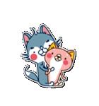 狼ちゃんと一緒(個別スタンプ:4)