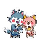 狼ちゃんと一緒(個別スタンプ:10)