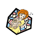Stained Glass Girls(個別スタンプ:02)