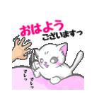 ぷにぷににゃんこ【敬語あいさつ編】(個別スタンプ:1)