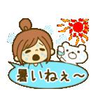 お絵かきガールズスタンプ6~夏ver.~(個別スタンプ:04)