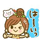 お絵かきガールズスタンプ6~夏ver.~(個別スタンプ:19)