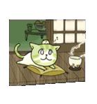 メクバセネコ・抹茶(個別スタンプ:14)