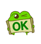 動く!毎日使えるカエル(蛙)のスタンプ(個別スタンプ:01)
