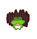 動く!毎日使えるカエル(蛙)のスタンプ(個別スタンプ:07)