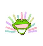 動く!毎日使えるカエル(蛙)のスタンプ(個別スタンプ:14)