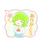 ふわふわ吹き出しの 女の子♪(個別スタンプ:01)