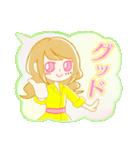ふわふわ吹き出しの 女の子♪(個別スタンプ:07)