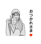 マスク女子。(個別スタンプ:03)