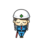 警備員のトモミちゃん(個別スタンプ:06)
