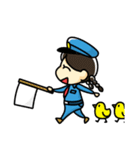 警備員のトモミちゃん(個別スタンプ:40)