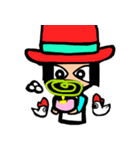 Red-hat4(個別スタンプ:25)