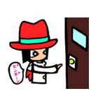 Red-hat4(個別スタンプ:33)