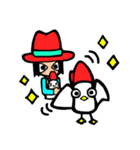 Red-hat4(個別スタンプ:40)