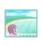 空・山・海・川!ウキウキ楽しい自然の景色(個別スタンプ:21)