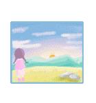 空・山・海・川!ウキウキ楽しい自然の景色(個別スタンプ:39)