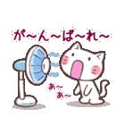 応援する猫、がんばる猫(個別スタンプ:07)