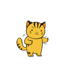 動くねこ!つしまやまねこ (絶滅危惧種猫)(個別スタンプ:5)