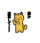 動くねこ!つしまやまねこ (絶滅危惧種猫)(個別スタンプ:22)