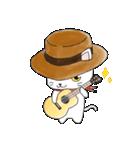 歌うたいの白猫 1(個別スタンプ:01)