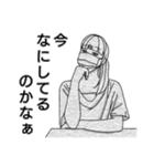 マスク女子2。(個別スタンプ:03)