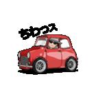 動くミニサイズで可愛い車(個別スタンプ:01)