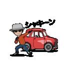 動くミニサイズで可愛い車(個別スタンプ:11)