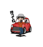 動くミニサイズで可愛い車(個別スタンプ:14)