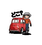動くミニサイズで可愛い車(個別スタンプ:15)