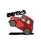 動くミニサイズで可愛い車(個別スタンプ:16)