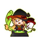 ハロウィン魔女(個別スタンプ:9)