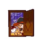 ハロウィン魔女(個別スタンプ:15)